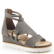Diba True Green Clover Wedge Sandal (6, Taupe Suede)