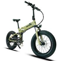 Mukkpet Fat Bear 20'' Snow Electric Bicycle Folding 48V 11.6AH Lithium Battery 500W for e-Bike with I-PAS Power System