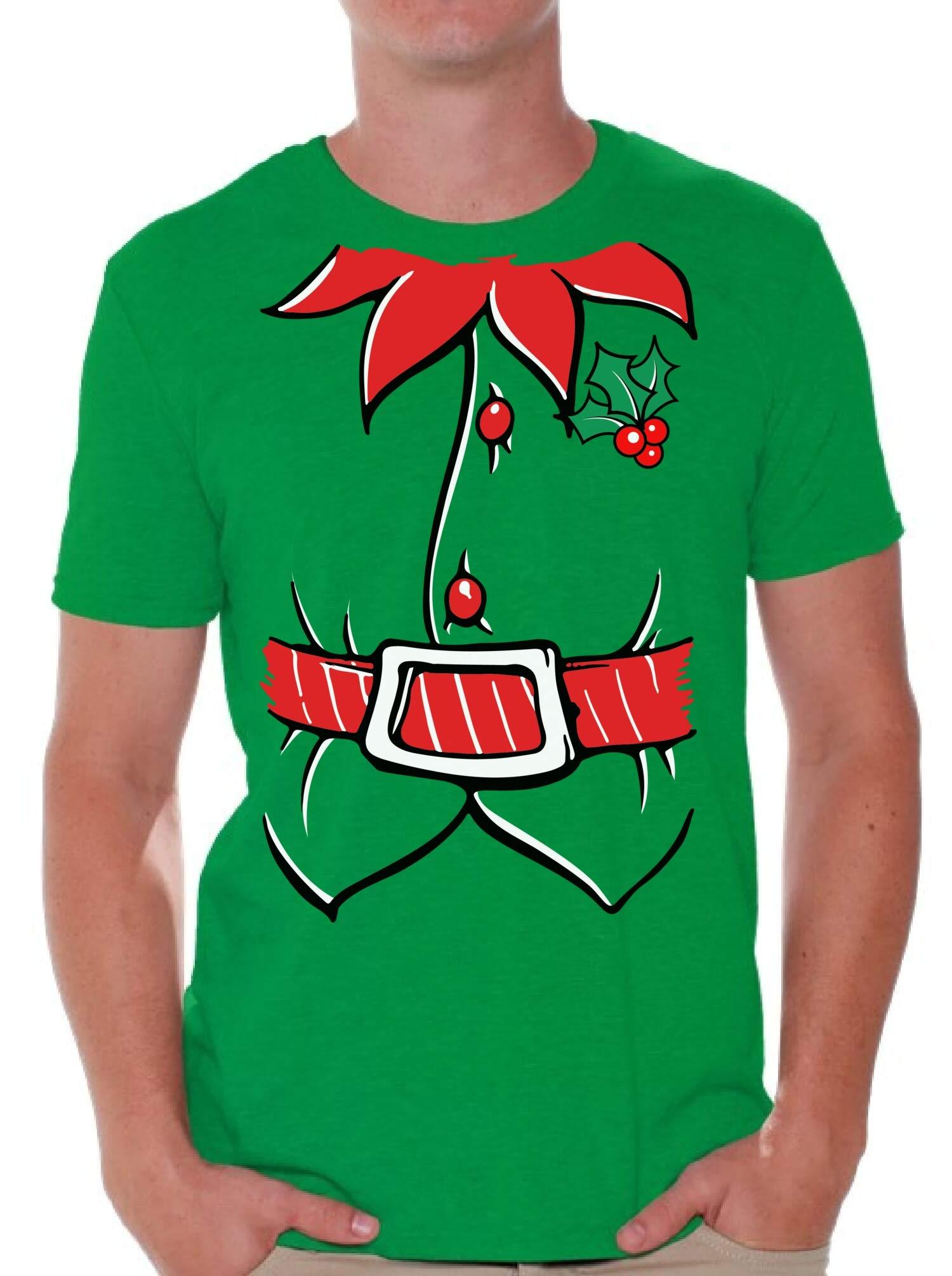 Awkwardstyles Men's Elf Costume T-Shirt Santa Holiday Christmas Shirt
