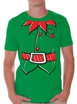 Awkwardstyles Men's Elf Costume T-Shirt Santa Holiday Christmas Shirt