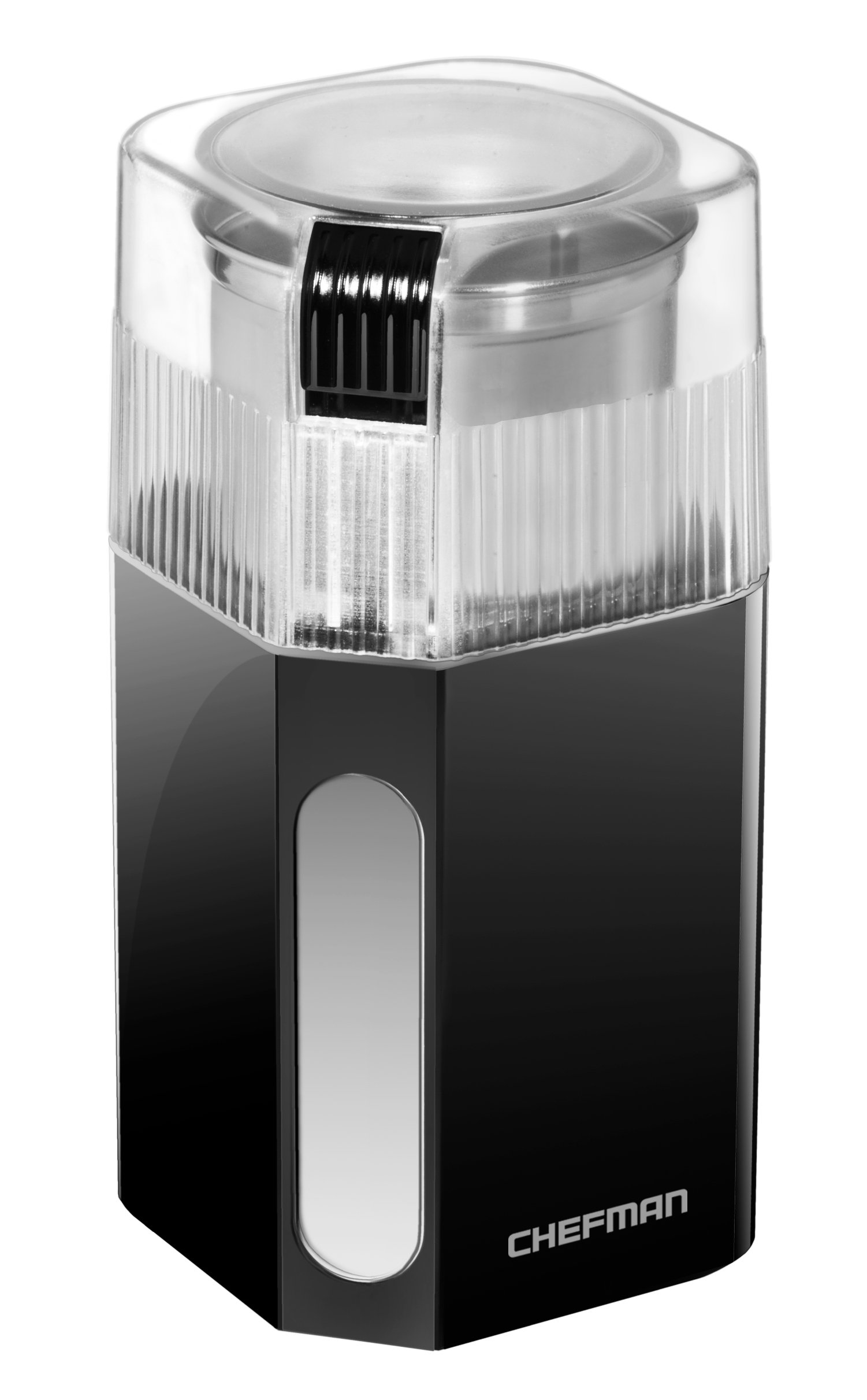 Chefman Coffee Grinder Powerful 250 Watt Electric Mill Freshly-Grinds 2.5 oz Beans, Easy One Touch Operation, Removable & Dishwasher Safe Stainless Steel Grinding Cup & Blade, Black