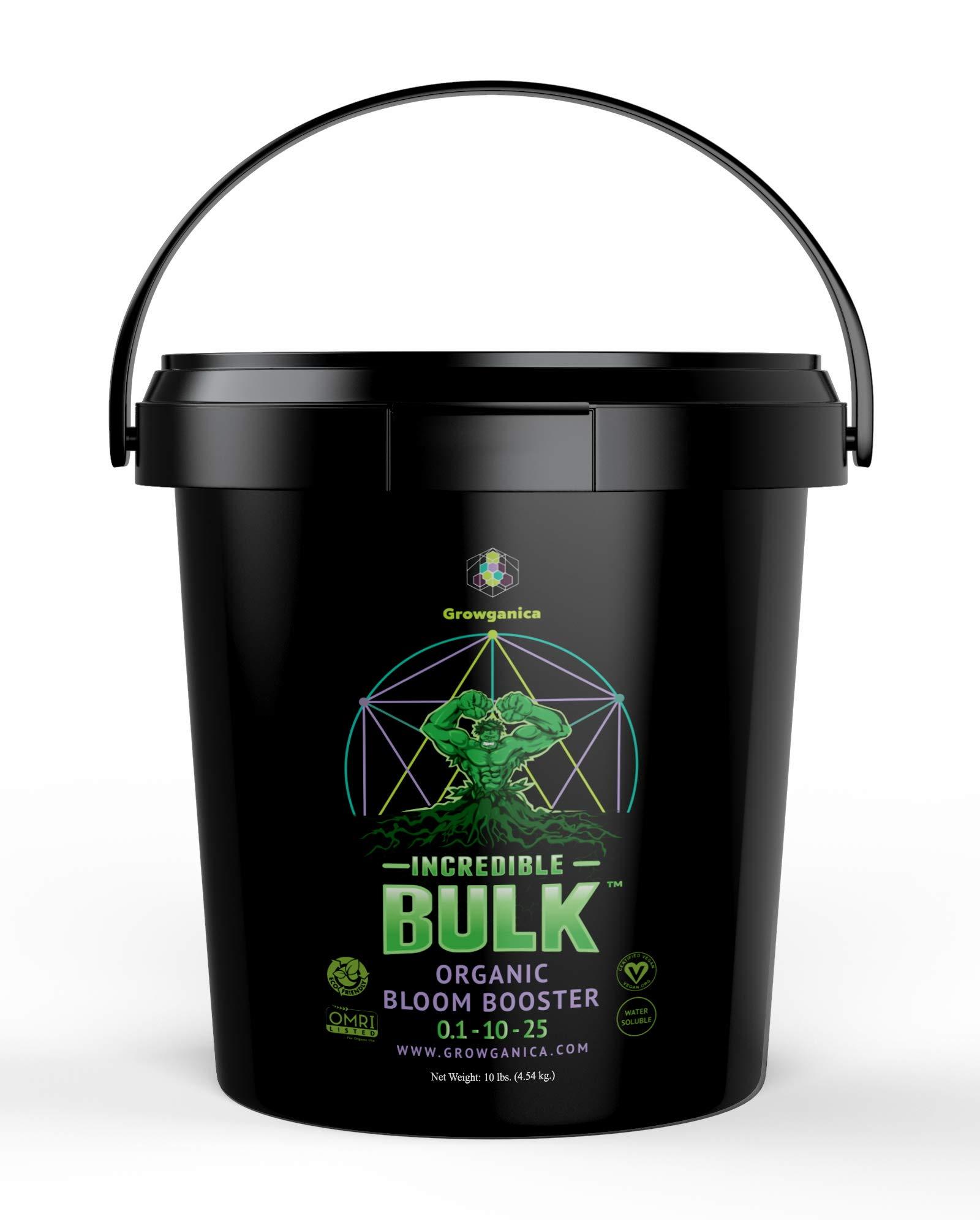 Bloom Booster, Incredible Bulk 0.1-10-25 Certified Vegan OMRI Listed Organic Plant Food (10lb)