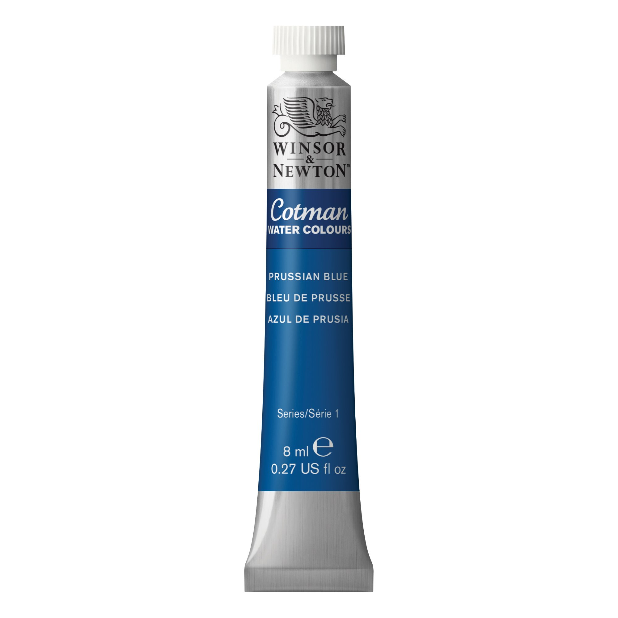 Winsor & Newton Cotman Water Colour Paint, 8ml tube, Prussian Blue