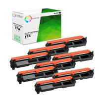 TCT Premium Compatible Toner Cartridge Replacement for HP 17A CF217A Black Works with HP Laserjet Pro M102W M102A, MFP M130A M130FW M130FN M130NW Printers (1,600 Pages) - 8 Pack
