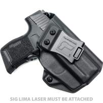 Tulster IWB Profile Holster in Right Hand fits: Sig P365 w/Lima Laser