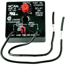 ICM Controls ICM203F Delay On Break Timer with 0.03-10 Minutes Adjustable Timing and 6 Lead Wires,Multicolor