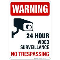 Video Surveillance Sign, 10x14 Rust Free Aluminum, Weather/Fade Resistant, Easy Mounting, Indoor/Outdoor Use, Made in USA by SIGO SIGNS