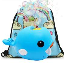 IAMGlobal Bubble Machine, Automatic Durable Bubble Maker, 2500+ Per Minute Bubble Blower with A Unicorn Bag for Parties Wedding Outdoor, Indoor (Blue)