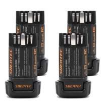 Shentec 4- Pack 8V 1500mAh Replacement Battery Compatible with DEWALT DCB080 Dewalt DCF680N1 DW4390 DCF680N2 DCF680G2, Li-ion Battery
