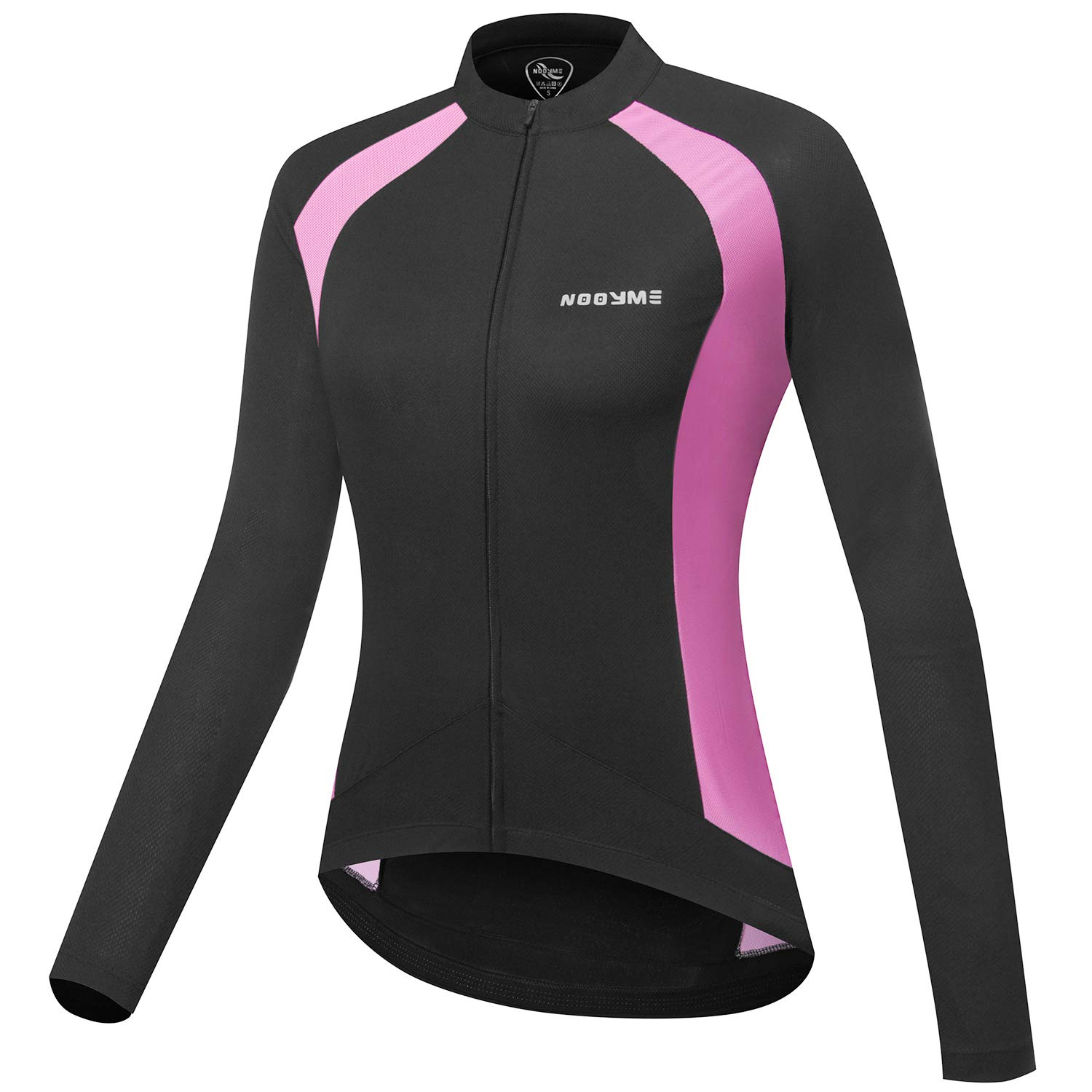 NOOYME Women's Wicking Cycling Jersey with Three Back Pockets