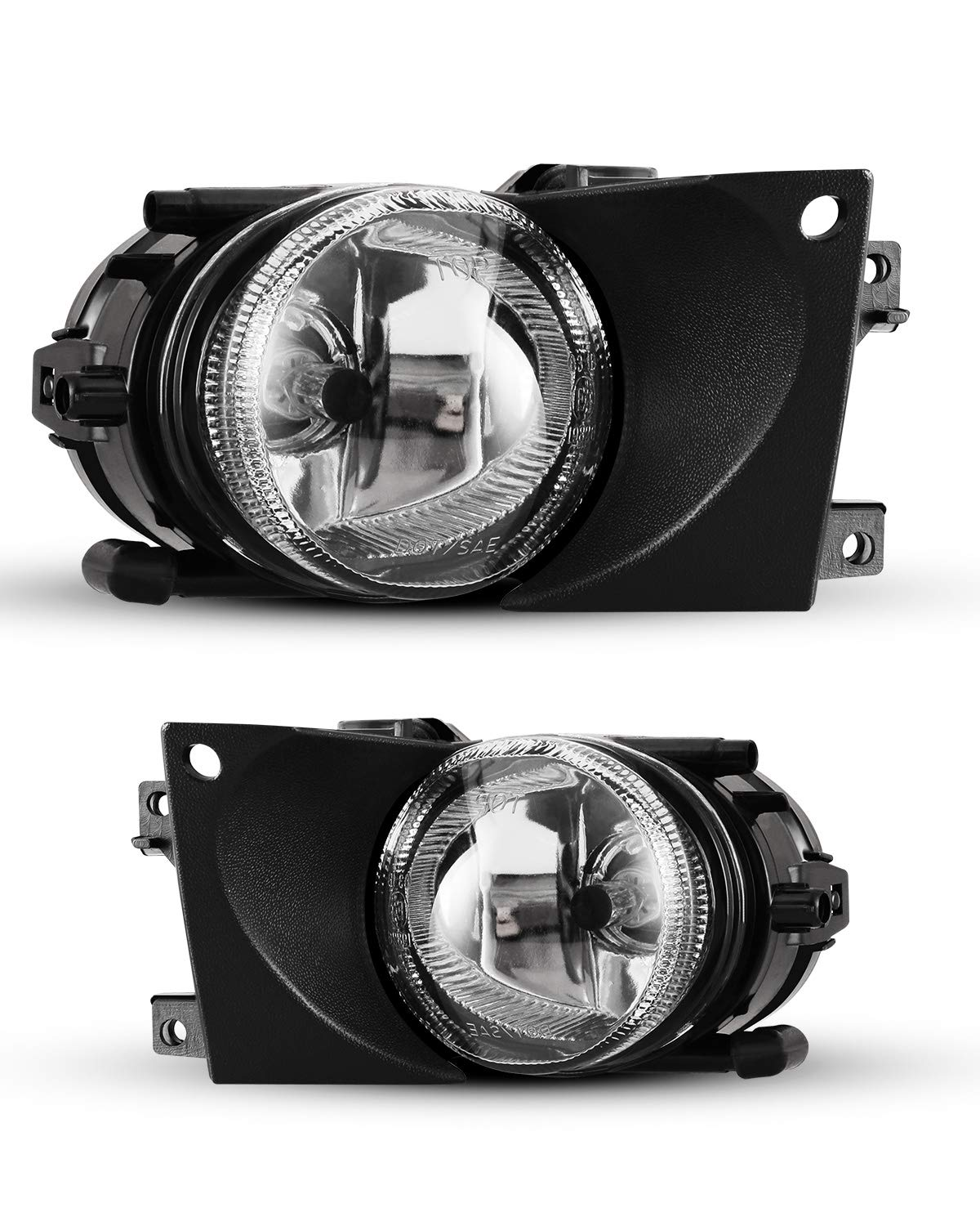 Fog Lights For 2001-2003 BMW 5 Series E39 OEM Replacement Fog Lamps 2PCS With Clear Lens AUTOWIKI
