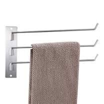 MEIJUBOL Rotating Towel Rack Stainless Steel 3-Arm Wall Mounted Bathroom Towel Rack Holder