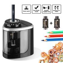 Electric Pencil Sharpener, Portable Battery Operated Pencil Sharpener with battery for Colored and No. 2, High-Speed Automatic pencil sharpener for Home Office School Classroom Adults and Kids(6-8mm)