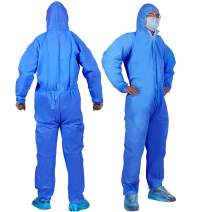 YIBER Disposable Protective Coverall Suit, Made of SMS Material, Excellent air permeability and water repellency - 1 PCS/PACK (XL, Blue)