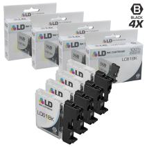 LD Compatible Ink Cartridge Replacement for Brother LC61BK (Black, 4-Pack)