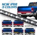 Fuguang 60'' Flexible LED Truck Tailgate Light Bar Triple Colors W/R and Sequential Amber Turn Signal High Brightness IP68 Waterproof Tail Strip light 1yr Warranty (60inch)