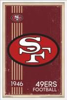 "Trends International NFL San Francisco 49ers - Retro Logo, 22.375"" x 34"", White Framed Version"