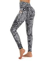 Promover Yoga Pants for Women High Waist Leggings with Pockets Tummy Control 4 Way Stretch Yoga Running Tights
