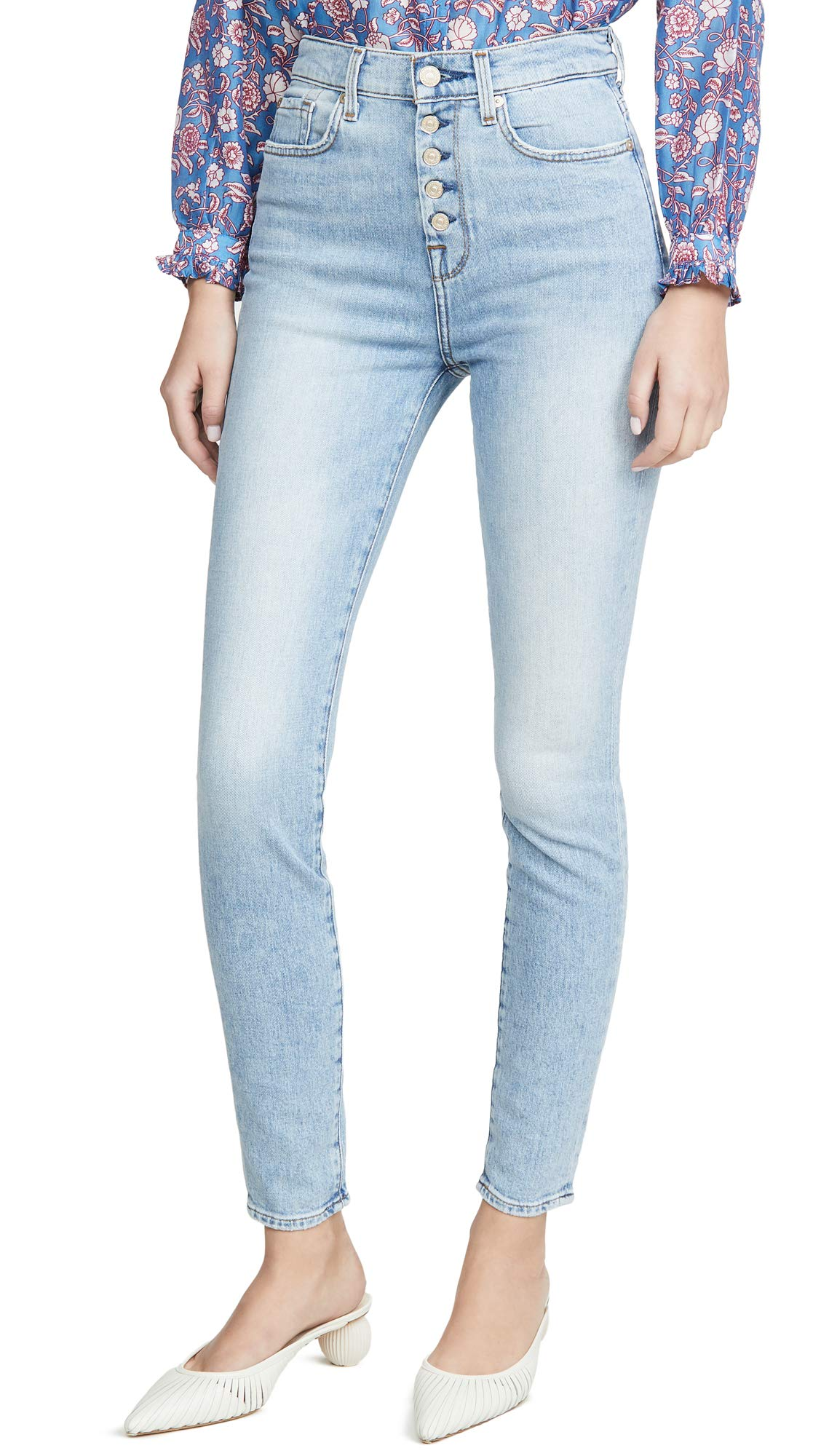 7 For All Mankind Women's High Rise Skinny Jeans
