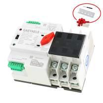 GAEYAELE W2R-3P Din Rail Mounted Automatic Transfer Switch Three Phase ATS 100A Power Transfer Switch (W2R 3P 16A)