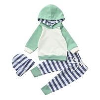 FIZUOXVE Infant Boys Girls Long Sleeve Hoodie Tops Sweatsuit Long Pants Clothes 3pcs Outfit Sets