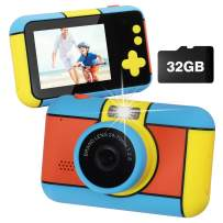 Co-Golguard Kids Camera Children Digital Cameras 1080p HD Camcorder Rugged Toy Video Recorder for Girls Boys Toddler with Memory Card Lager Screen Rechargeable Birthday Gift for 3-9 Years Old Child