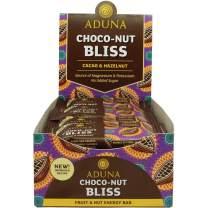 Aduna Choco-Nut Bliss Energy Bar with Cacao and Hazelnut, 40g - (Pack of 16 Bars)