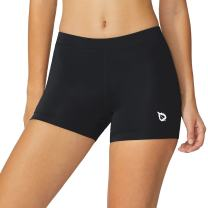 BALEAF Women's 3 Inch Active Spandex Running Compression Volleyball Shorts Fitness Workout