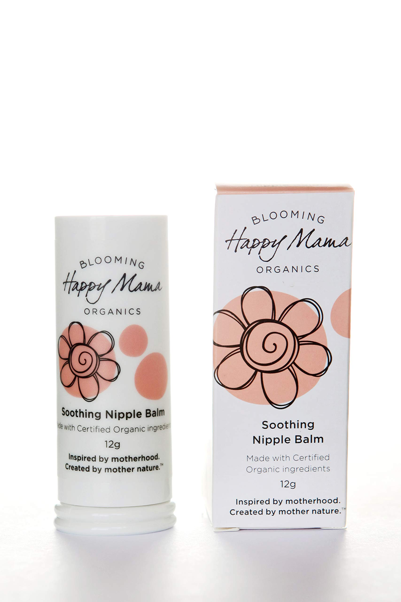 Happy Mama Organics, Soothing, Healing Relief for Sore, Cracked, Nursing Nipples. Organic, Natural Nipple Cream for Breastfeeding. Vegan, Lanolin and Beeswax Free. Safe for Baby, No Need to wash Off.