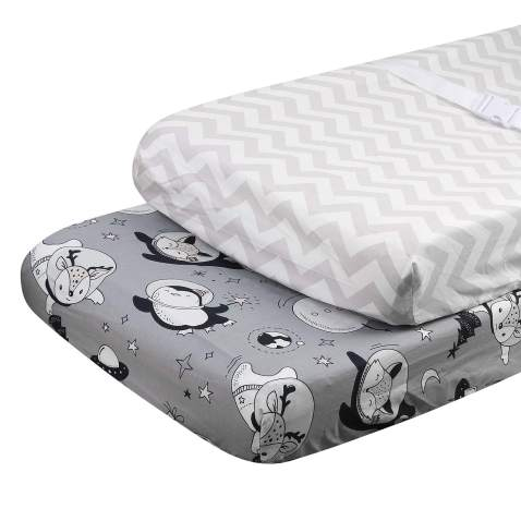 ALVABABY Changing Pad Cover Cradle Mattress 100% Organic Cotton Soft and Light Baby for Boys and Girls 2TCZ08