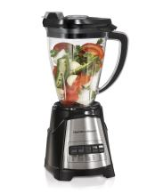 Hamilton Beach MultiBlend Blender & Food Chopper with 4 Functions for Dicing, Grinding, Shakes and Smoothies, 48oz Tritan Jar and 24oz Vegetable Dicer Attachment, Black (58159)