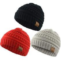 Zando Baby Beanies for Boys Cute Soft Warm Baby Knit Hat Toddler Infant Winter hat Caps for Girls Boys