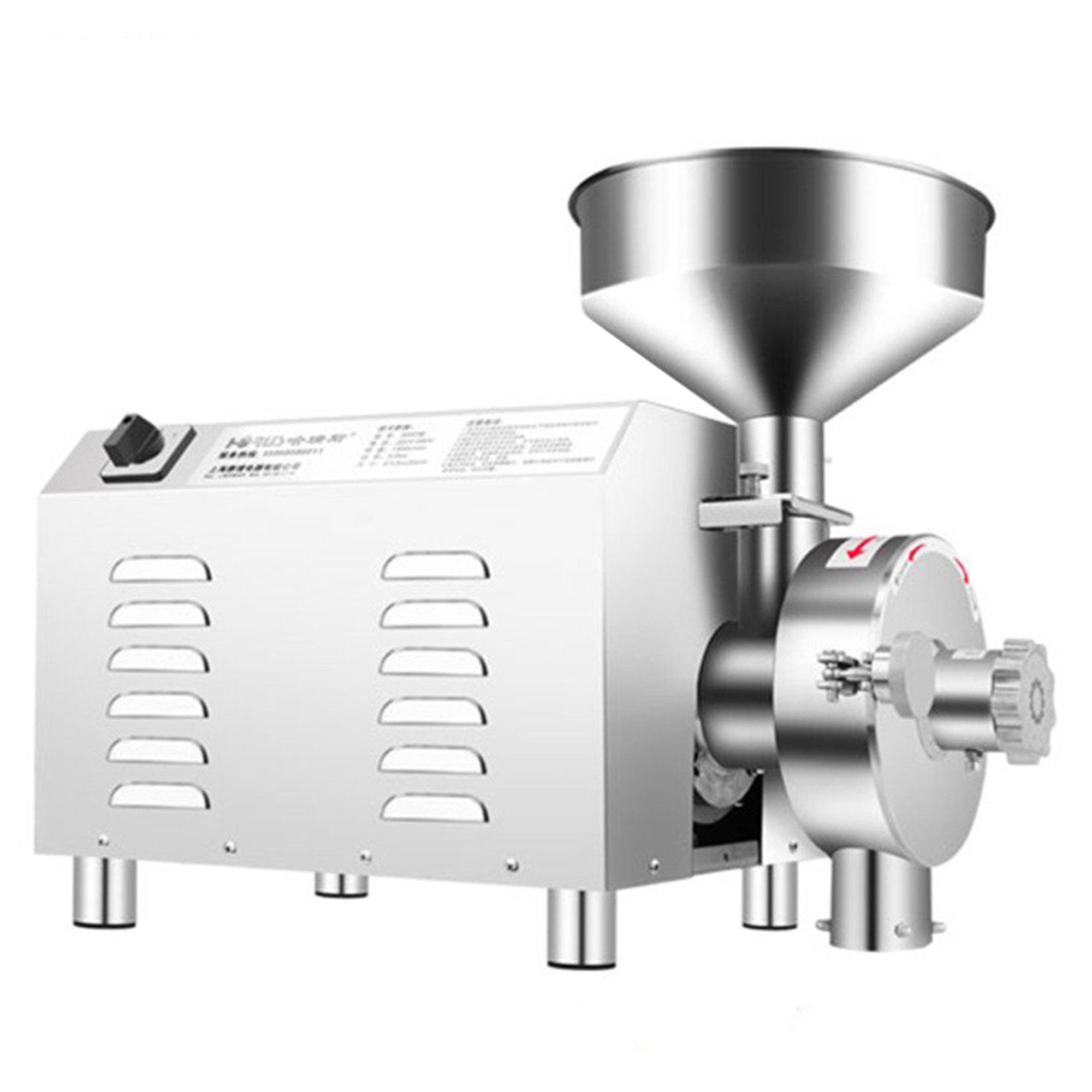 BAOSHISHAN 2200W Capacity:30-50 kg/h Commercial Superfine Grain Grinding Machine Spice and Chinese Herb Grinder Peppe Soybean Coffee Mill Machine (220V)