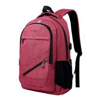 SUNSEATON Business Laptop Backpack with USB Charging Port, Fits 15.6 Inch Laptop