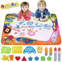 RLINGX Doodle Drawing Mat - Large (33.4 x 22.8in), Aqua Magic Mat, Water Doodle Mat, Painting Pad Toy Gifts Painting Writing Pad Educational Learning Toys for Boys Girls Kids Age 2 3 4 5 6 Year Old