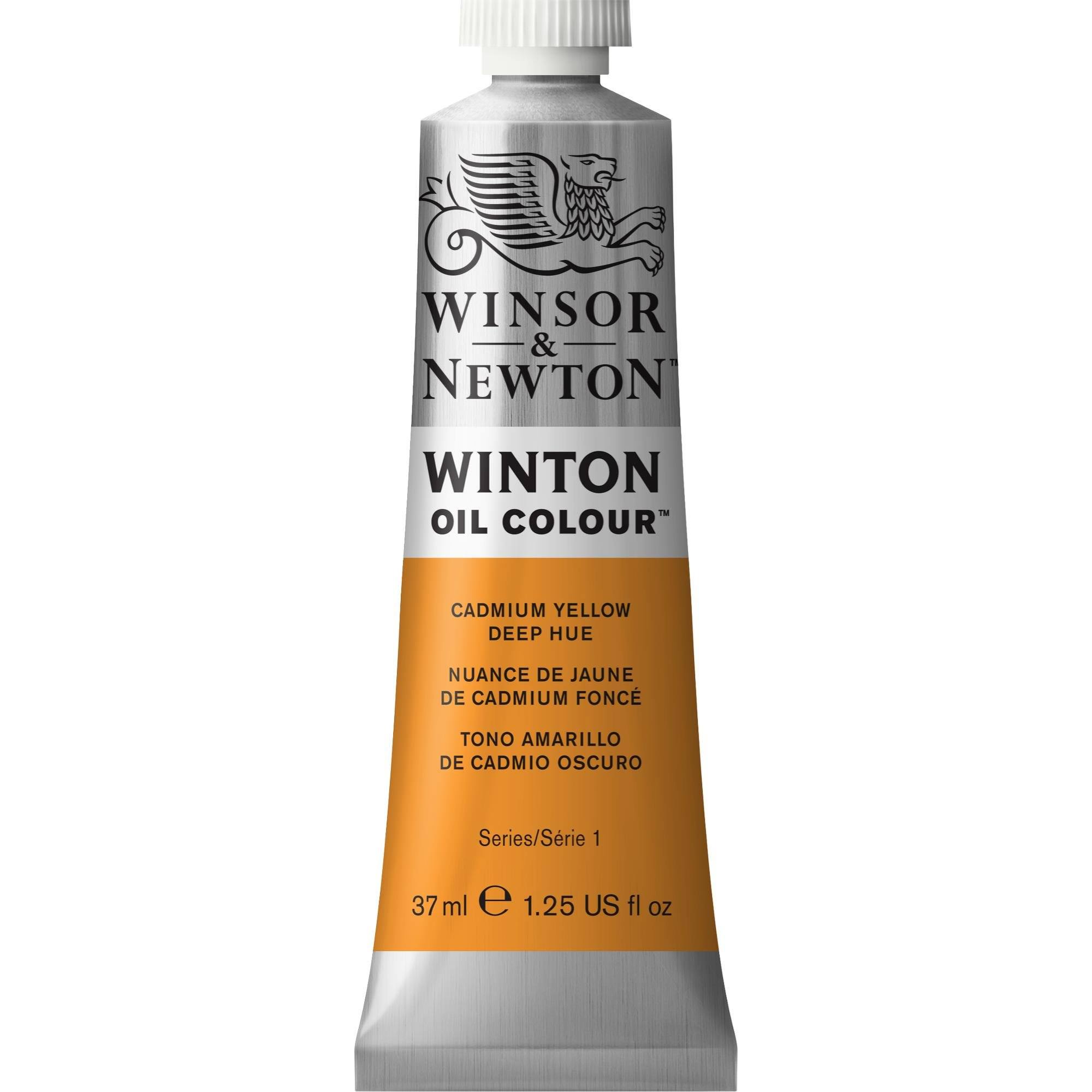 Winsor & Newton Winton Oil Colour Paint, 37ml tube, Cadmium Yellow Deep Hue