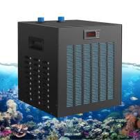 YJINGRUI Aquarium Water Chiller Refrigeration Compressor 80Gal 1/3HP for Water Grass/Crystal/Shrimp/Jellyfish/Coral (110V American Standard)