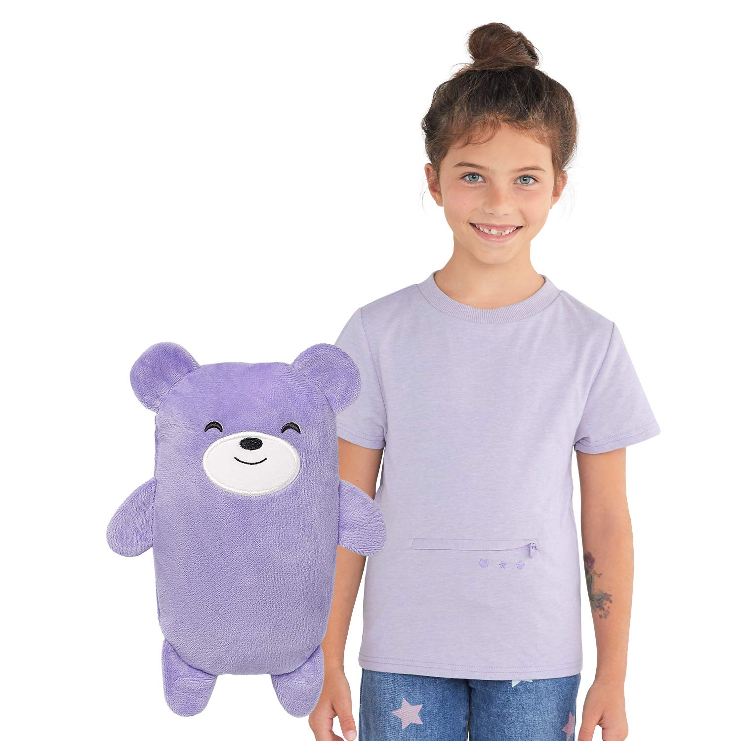 Cubcoats Bori The Bear 2-in-1 Transforming Tee T-Shirt and Soft Plushie