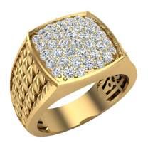 1.00 ct tw Cushion Pavé set Diamond Ring 18K Gold (G, VS)
