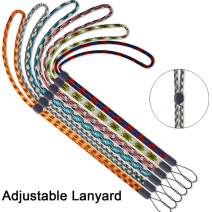 6 Pack Lanyard Adjustable 6 Colors Neck lanysrds Straps Long for Pen id Badge Holder Keys Office Cute Adjustable Lanyards Cruise Colourful
