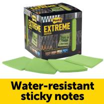 Post-it Extreme Notes, Works outdoors, Removes cleanly, 100X the holding power, Green, 3 in x 3 in, 12 Pads/Pack, 45 Sheets/Pad (EXTRM33-12TRYG)