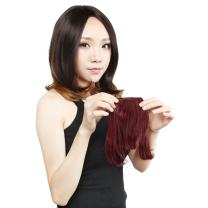 Neitsi Synthetic Clip-In Bangs Hair Extensions Fake Front Full Hair Pieces Bangs (118#)