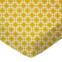 SheetWorld Fitted Cradle Sheet - Mustard Yellow Links - Made In USA