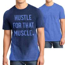 LeRage Shirts Workout Shirt for Men with Sweat Activated Technology and Hidden Inspirational Message Hustle for The Muscle