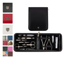 3 Swords Germany - brand quality 12 piece manicure pedicure grooming kit set for professional finger & toe nail care scissors clipper fashion leather case in gift box, Made in Solingen Germany (03850)