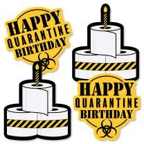 Big Dot of Happiness Happy Quarantine Birthday - Toilet Paper Decorations DIY Social Distancing Party Essentials - Set of 20