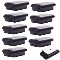 BIHRTC Pack of 10 Pcs Replacement AA Battery Case Black Battery Pack Cover Shell Case Kit for Xbox 360 Wireless Controller (Black)