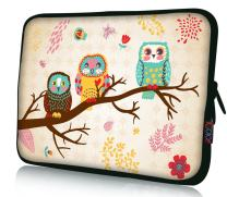 """iColor 12"""" Laptop Tablet Sleeve Bag 11.6"""" 12.1"""" 12.2 inch Neoprene Notebook Computer Protection Sleeve Cover Case Pouch -Owl"""