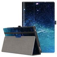 VORI Case for All-New Amazon Fire HD 10 Tablet (9th/7th/5th Generation,2019/2017/2015 Release), Folio Folding Smart Stand Cover with Hand Strap and Auto Wake/Sleep for Fire HD 10.1'', Galaxy