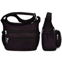 Women Crossbody Purse Bag Lightweight Water Resistant Nylon Travel Shoulder Bag